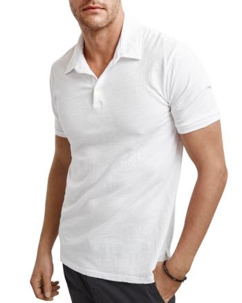 Velvet by Graham /& Spencer Men/'s Grey Heather Alvaro Cotton Jersey Henley Shirt