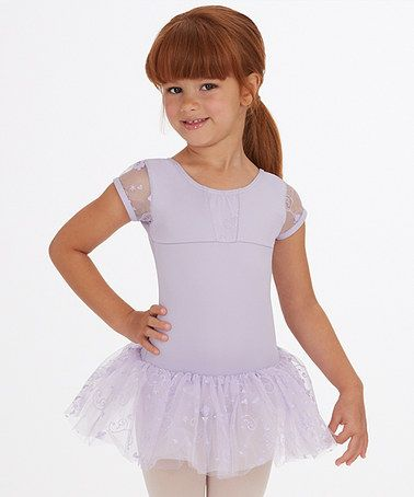 fde240c9e Love this Lavender Embroidered Skirted Leotard - Toddler   Girls by ...