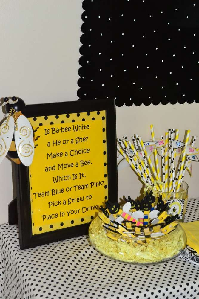Bumble Bee Baby Shower Gender Reveal Party Ideas