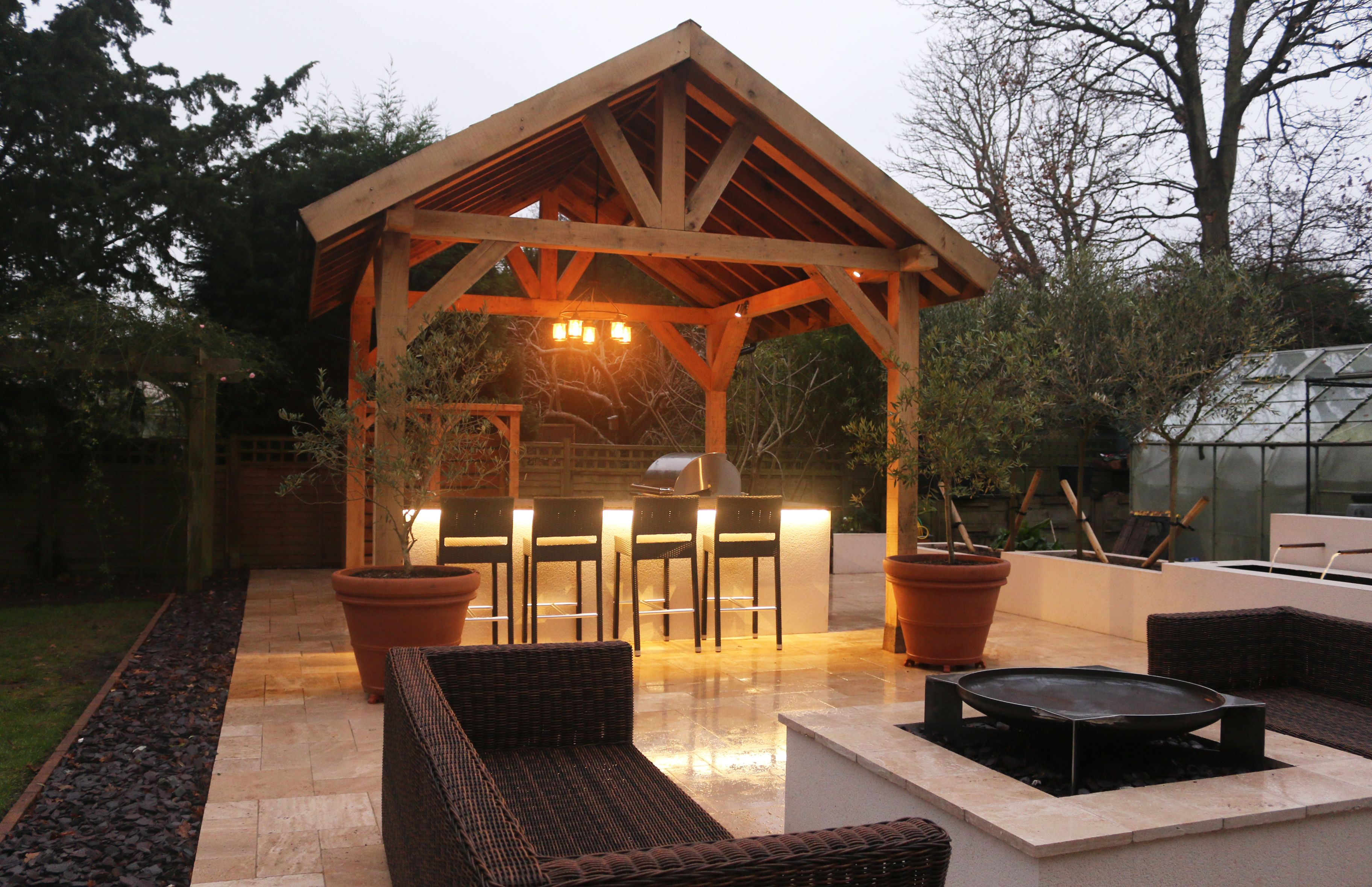 Bespoke Building with a Fire Magic Outdoor Kitchen