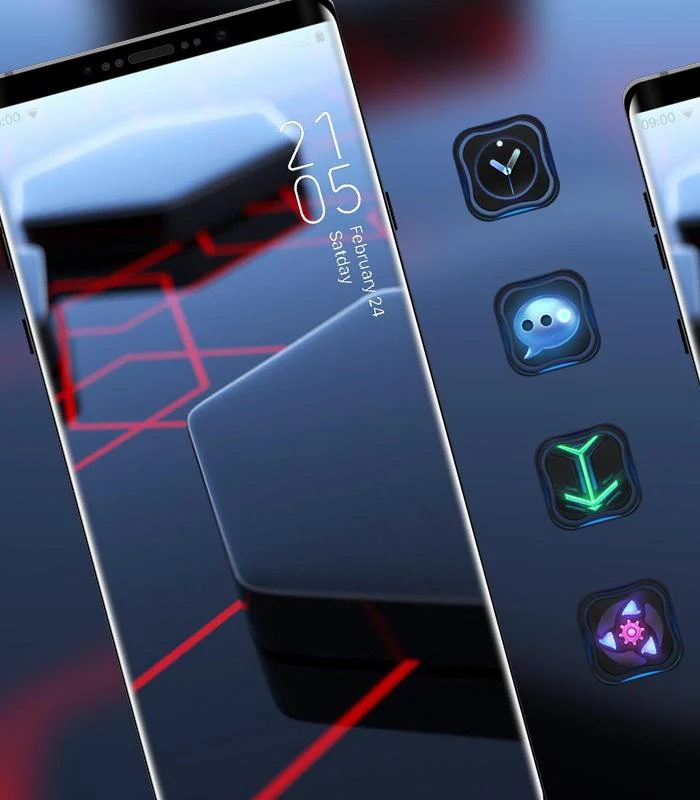 Click to own high tech hexahedron theme Custom icons