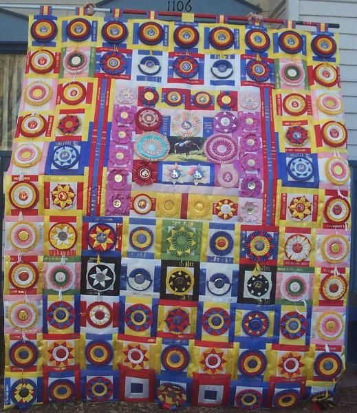 This is made with horse ribbons. It is 6.5' x 8.5' | horse ribbon ... : ribbon quilt - Adamdwight.com