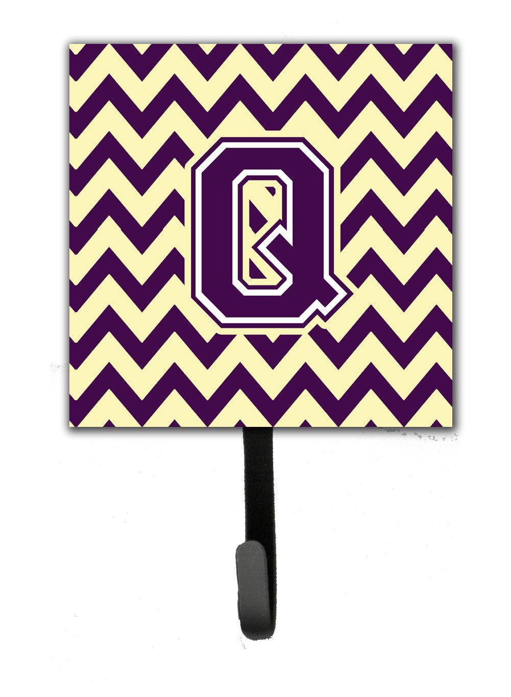 Letter Q Chevron Purple and Gold Leash or Key Holder CJ1058-QSH4