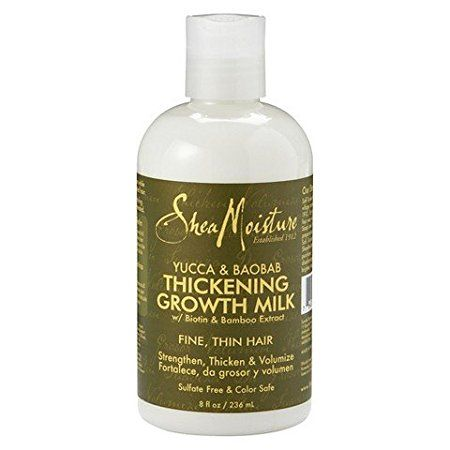 Product Review Has 2 Heat Protectants Yucca Plantain Anti Breakage Strengthening Styling Milk Th Hair Thickening Shea Moisture Products Hair Care Growth