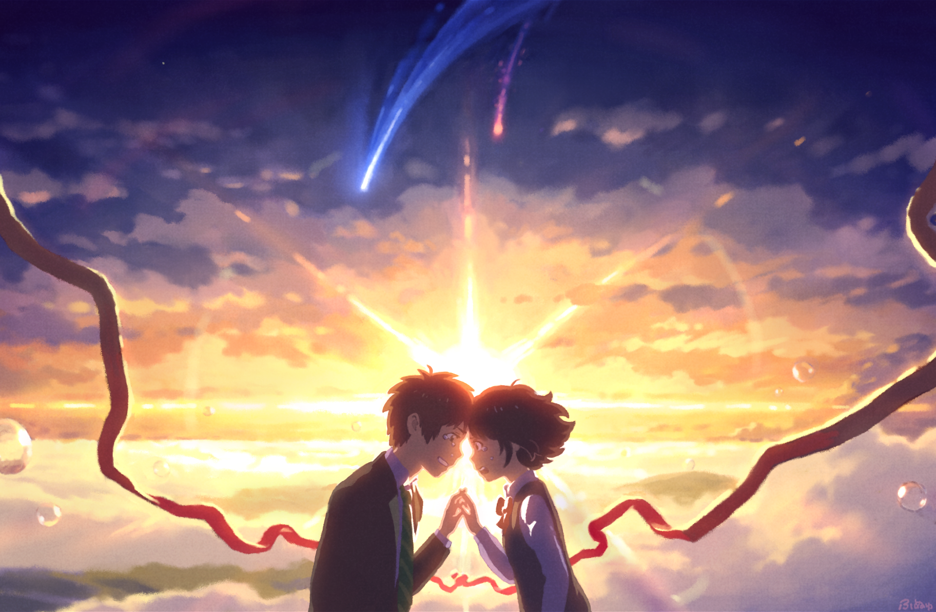 Makoto Shinkai Kimi No Na Wa (Your Name) Wallpaper Full HD