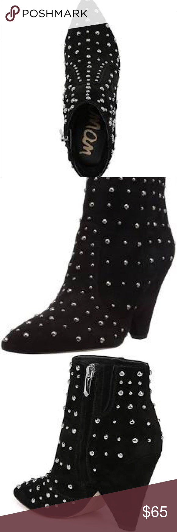 28e5fa273ff2b Sam Edelman Roya studded boot Perfect condition. Worn once to dinner only.  Perfect boot to take up any outfit. Comfortable. Sam Edelman Shoes Ankle  Boots   ...