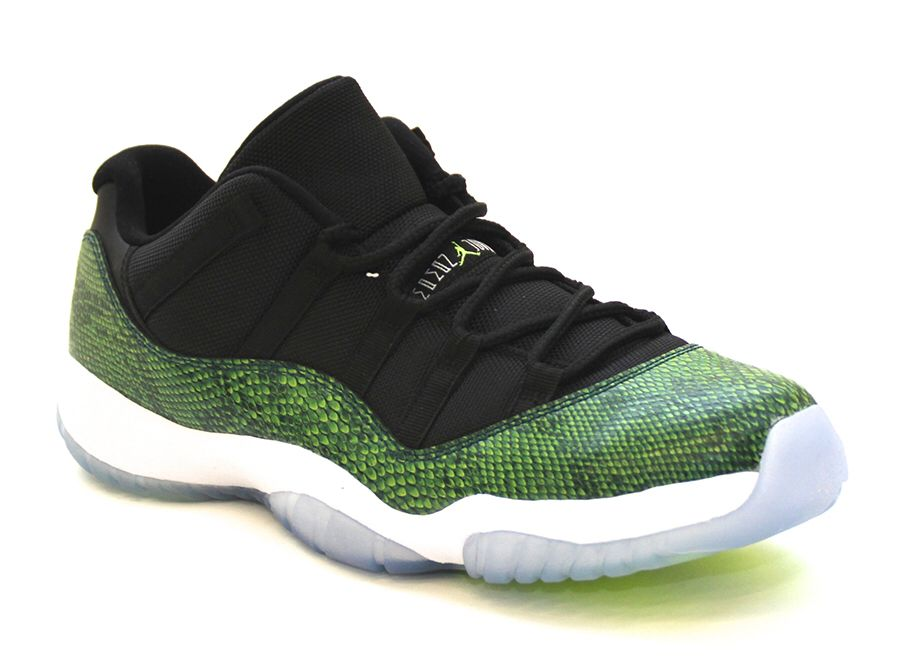 newest bc69d 8e514 Unreal Jordan 11s in Limited Edition Green Snakeskin.