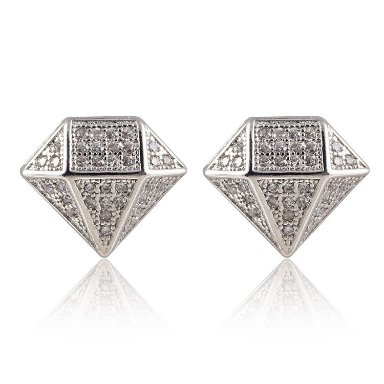 Por Mens Real Diamond Earrings