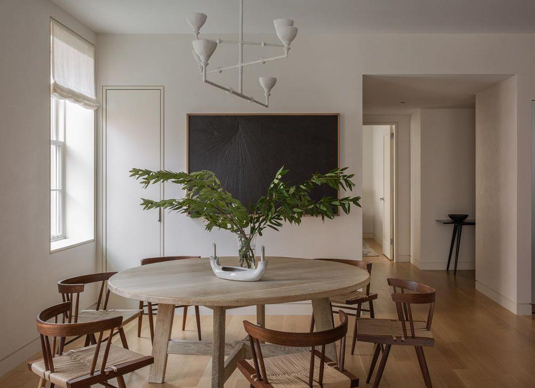 Ashe Leandro On Instagram Dining Room In Nolita Asheleandro Photo By Shadedeggesphotography Wood Interior Design Dining Room Design Dining Inspiration