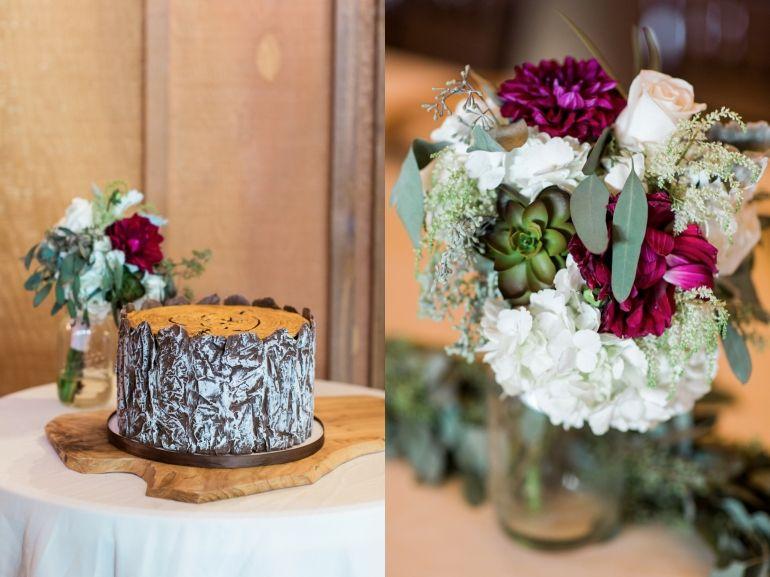 Big Cedar Lodge Integrity Hills Wedding Rustic Fall Details Grooms Wood Cake