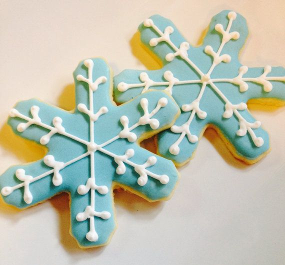 Large snowflake cookies on Etsy, $26.00