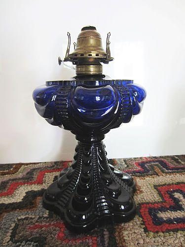 Cobalt Blue Antique Oil Lamp At General Heath S Antiques