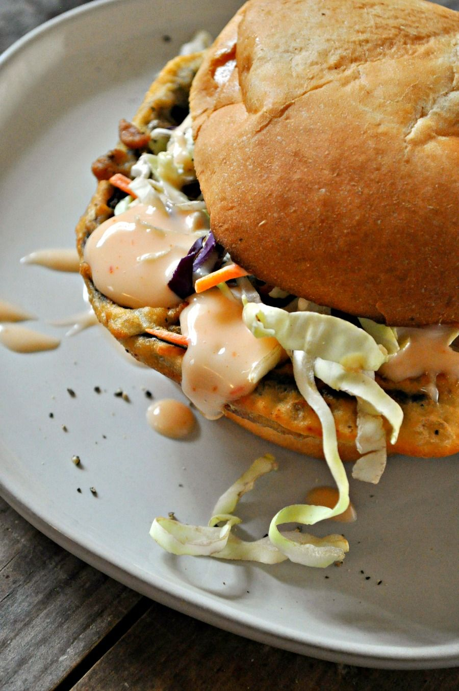 Vegan Buttermilk Fried Mushroom Sandwiches