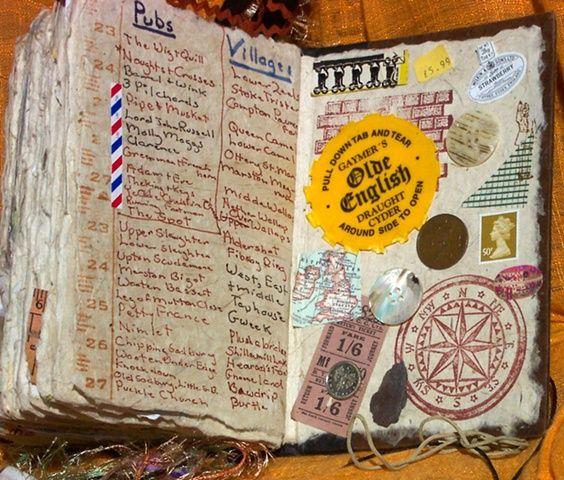Mixed-media travel journal