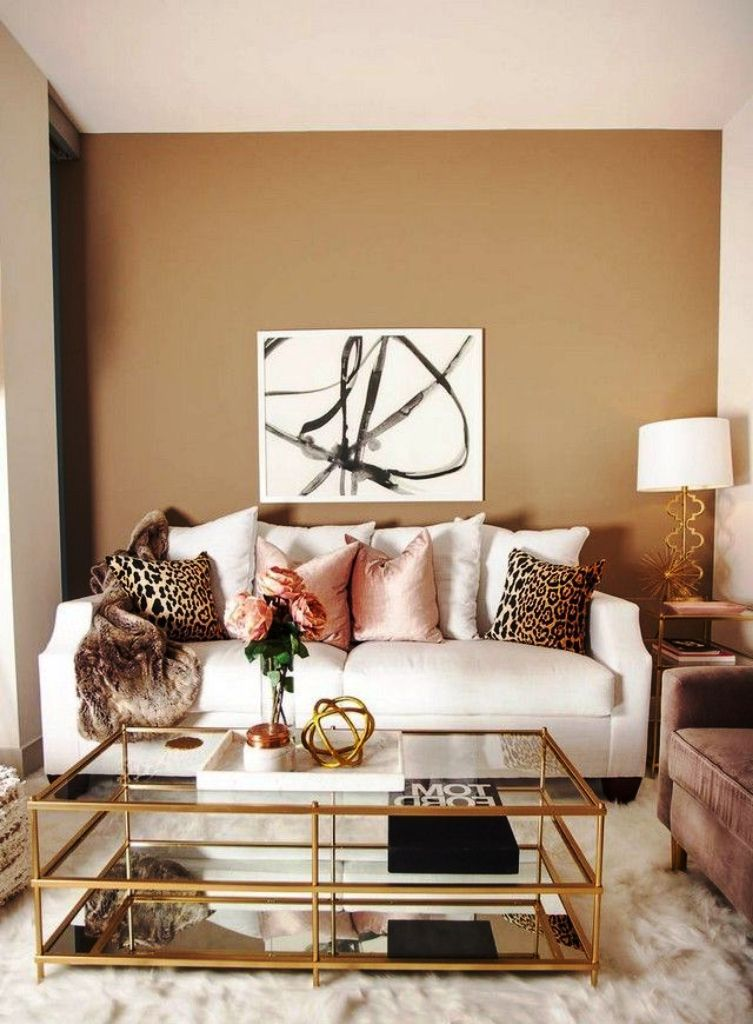 Cheetah Print Living Room
