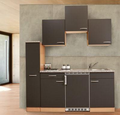 Respekta Küchenzeile KB180BG 180 cm Grau-Buche Nachbildung Jetzt - küchenzeile 240 cm mit geräten