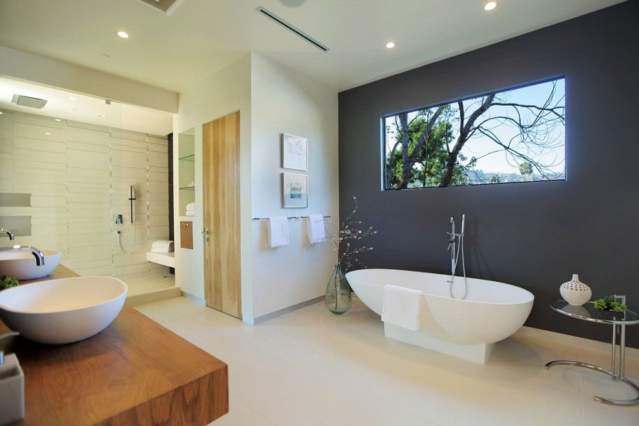 25 STYLISH MODERN BATHROOM DESIGNS