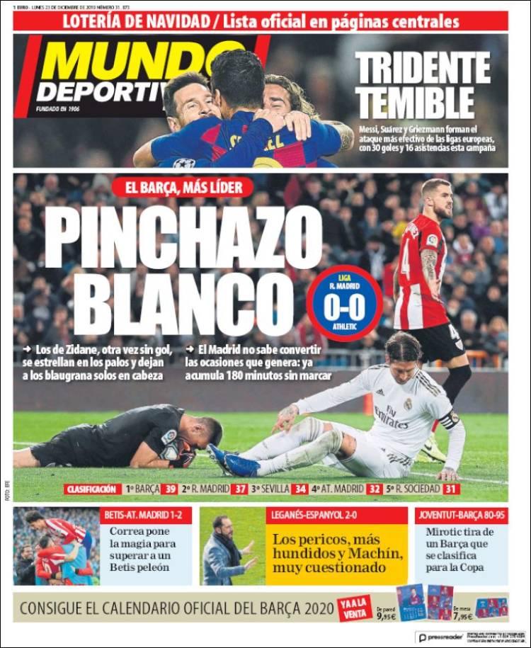 20191223 Periódico El Mundo Deportivo (España