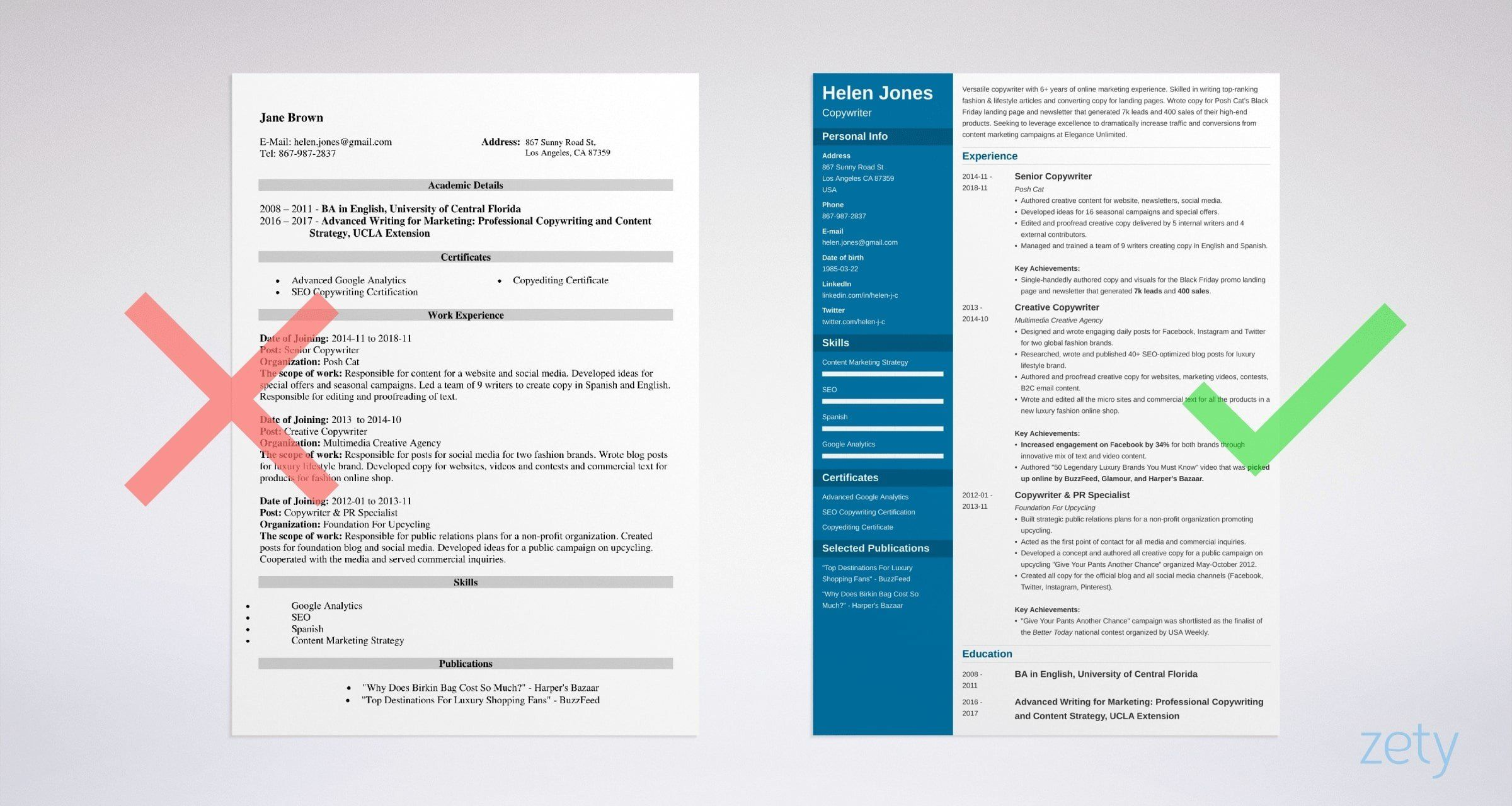A complete guide to creating a writer resume that gets