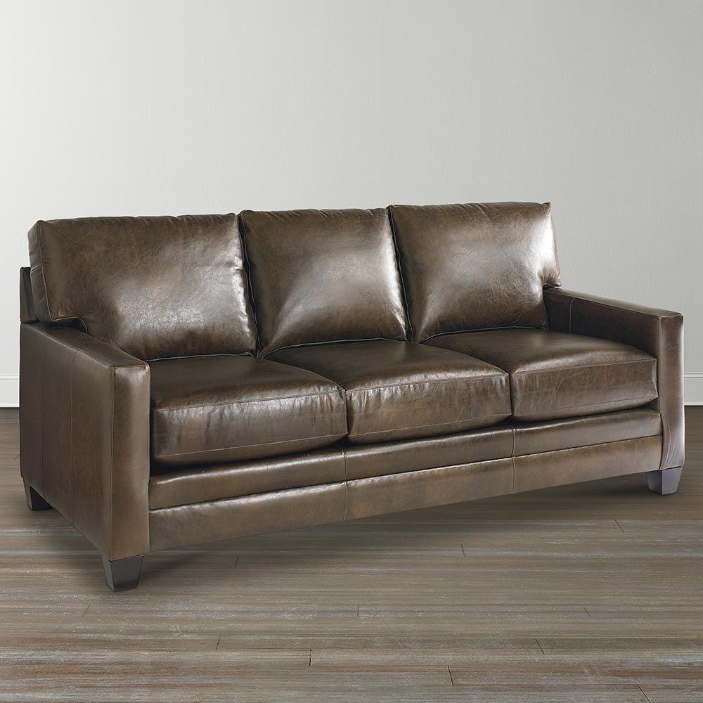 - Ladson Leather Queen Sleeper Custom Leather Sofa, American