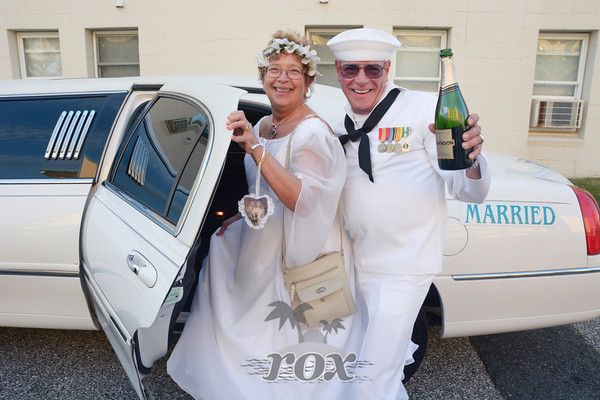"Ocean City, MD ""Just Married"" Wedding Limo - Photo by Rox Beach Weddings:  http://roxbeach.com/"