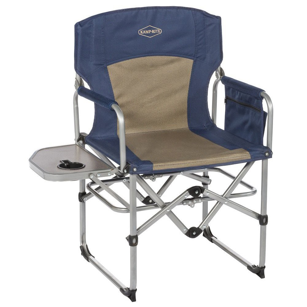 Kingcamp Heavy Duty Steel Folding Chair Director S Chair With Cooler Bag And Side Table For Product Portable Camping Chair Camping Chairs Best Beach Chair