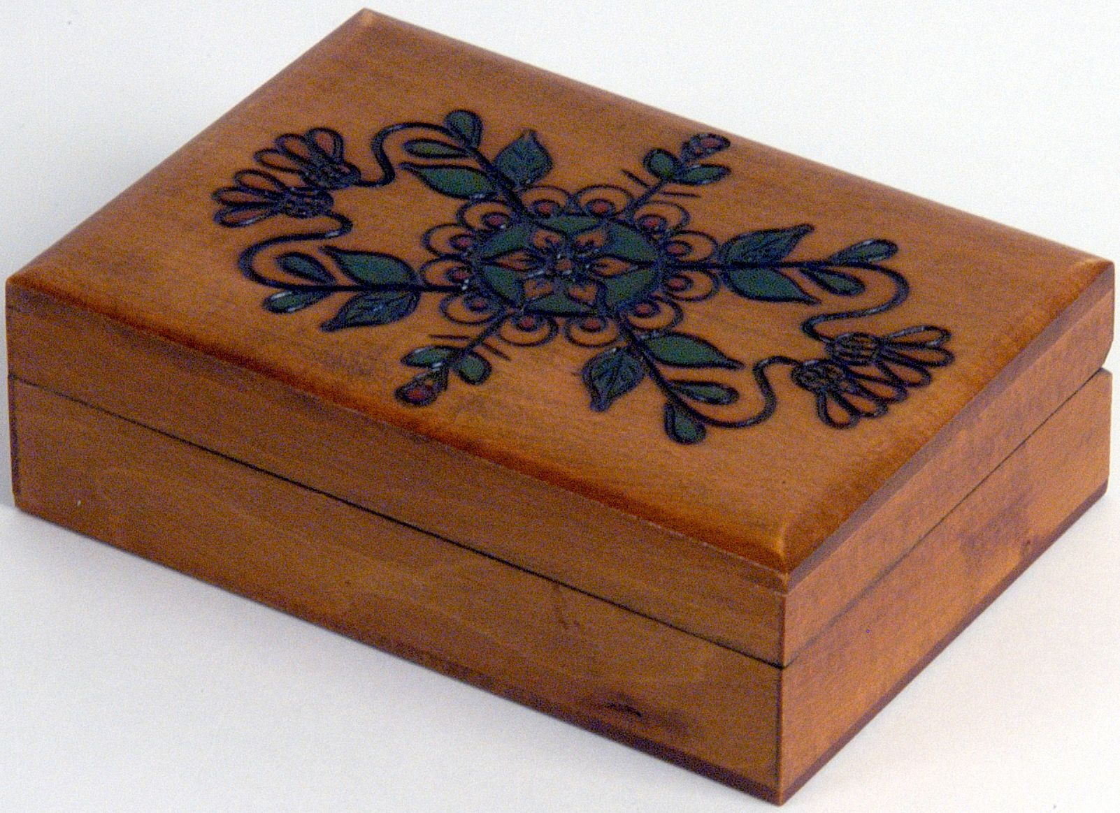 Decorated Wooden Boxes Decorative Wooden Boxes  Decorative Lacquered Wood Box Floral