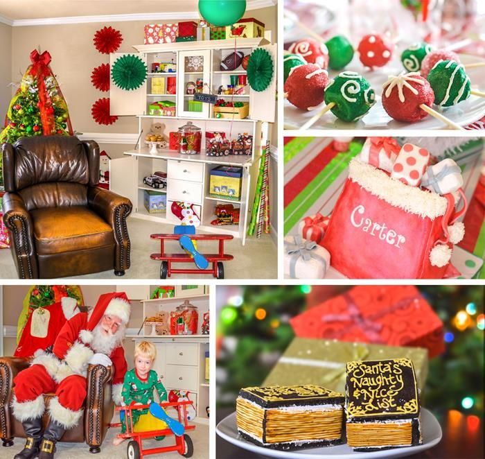 Christmas Themed Party Ideas Part - 28: Santau0027s Workshop Themed Birthday Party With Lots Of Really Cute Ideas - I  May Want To