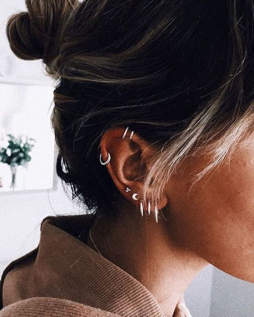 46 Ear Piercings for Women Beautiful and Cute Ideas #earpiercingideas