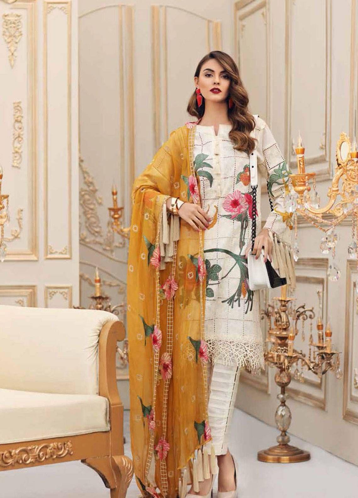Pakistani Charizma Designer Suit Stitched