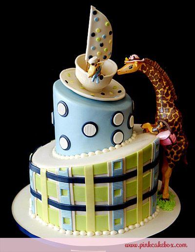 Baby shower giraffe cake custom baby shower cakes baby shower baby shower giraffe cake by pink cake box in denville nj more photos and negle Gallery