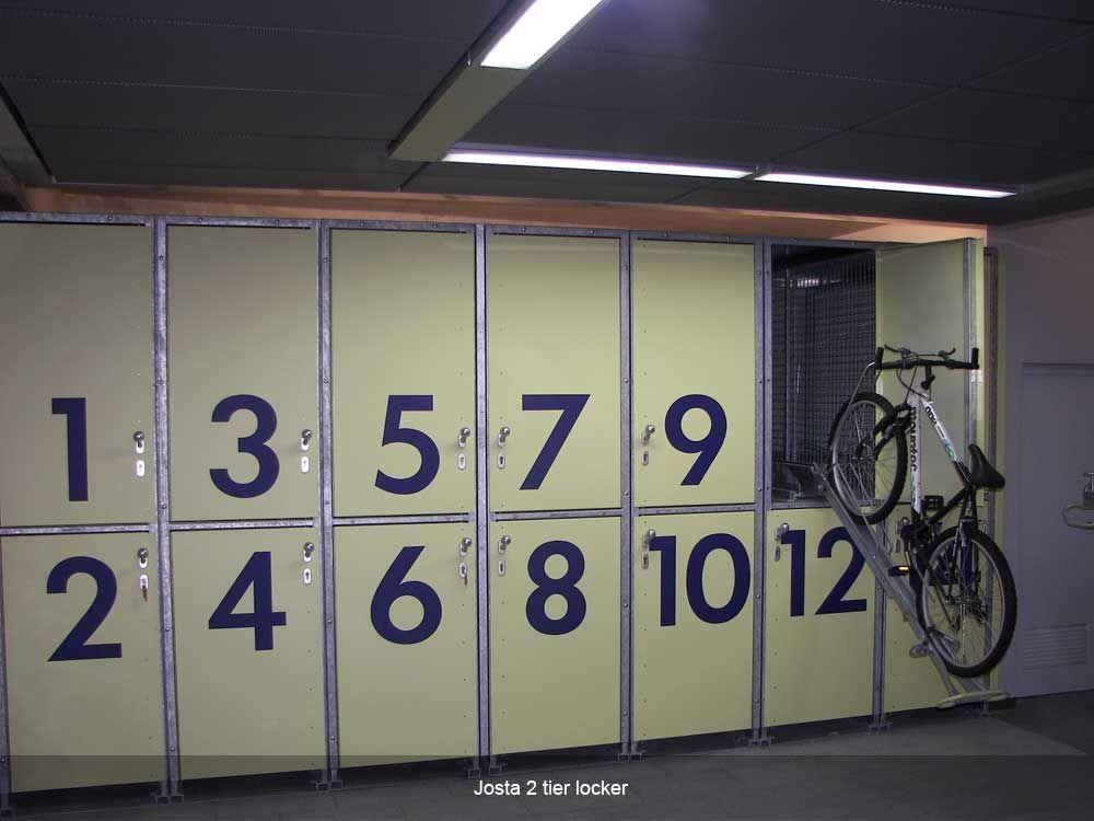 Josta 2 Tier Lockers Cycle Works Limited Bike Lockers