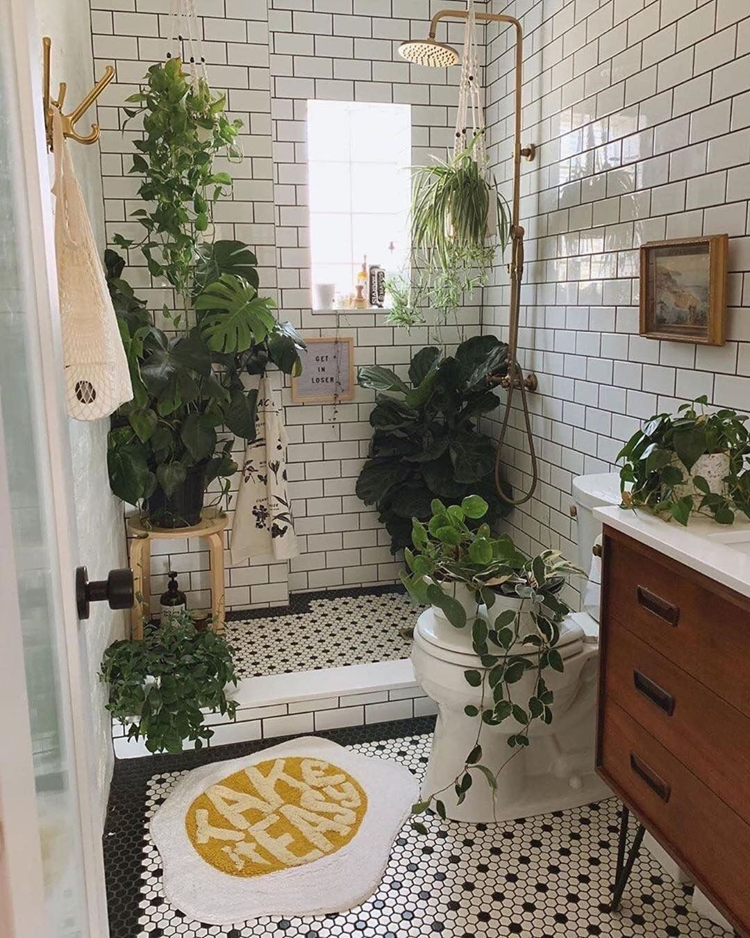 "Rae Rae on Instagram: ""Who cares if you can't use your toilet or shower because 🌱 🌱  @bohoshoppers 📷@thishouse5000⁠ .⁠ #bathroominspiration #bohohome…"""