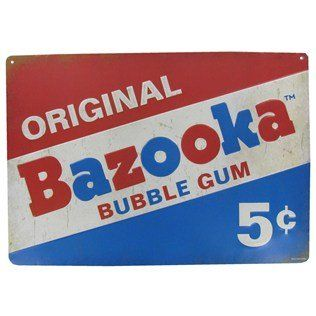 8x10 Color Photo 1 Cent Bazooka Bubble Gum Advertisig Poster