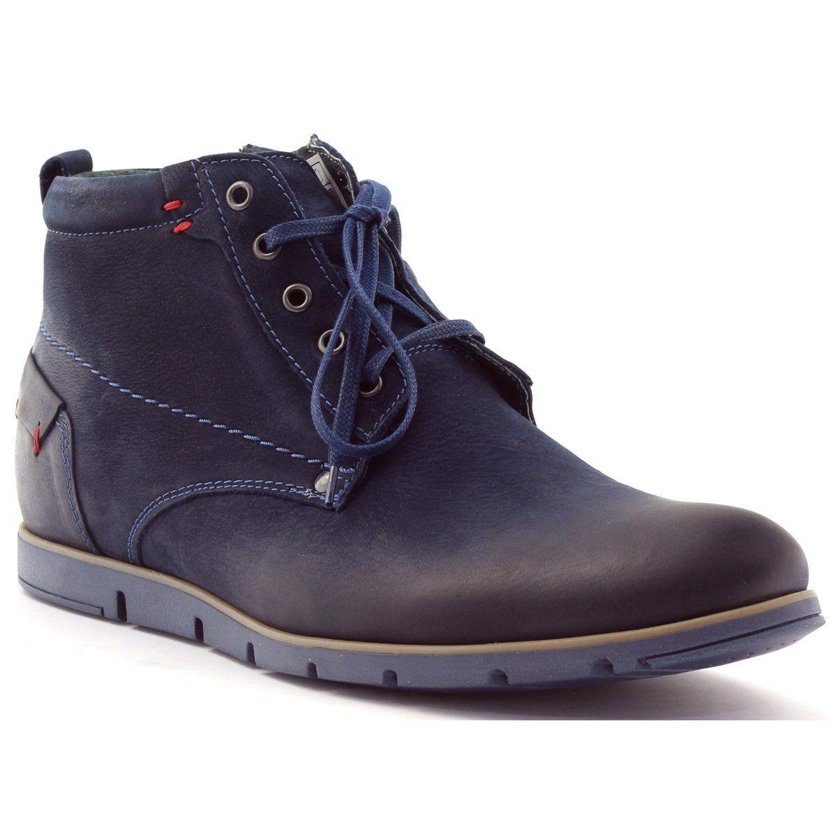Riko Buty Meskie Trzewiki Botki 791 Granatowe Timberland Boots Boots Shoes