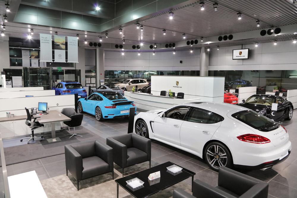Porsche News Porsche Centre Kuwait Unveils Enhanced Showroom Porsche Middle East Porsche Showroom Porsche Experience Porsche