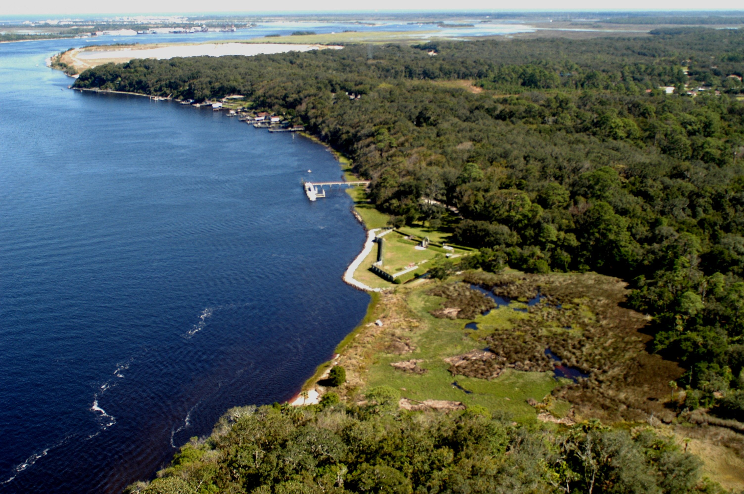Part of the St. Johns River in Jacksonville, FL. This popular tourist destination is experiencing a major environmental concern due to a fertilizer runoff and failing septic tanks. http://www.aero-stream.com/septic-tank-improvements-can-protect-environment-save-homeowners-money/