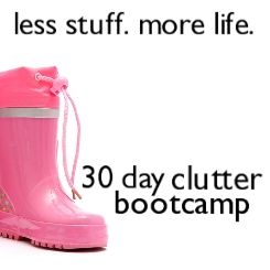 Great kick-your-butt bootcamp to get your clutter under control