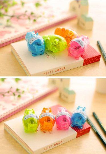 Kawaii Mini Hippo Sharpener   School Supplies   Sharpener   Fancy Stationery