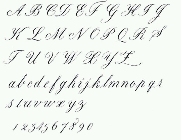 Flowy Script Cursive Calligraphy Lettering Copperplate Calligraphy