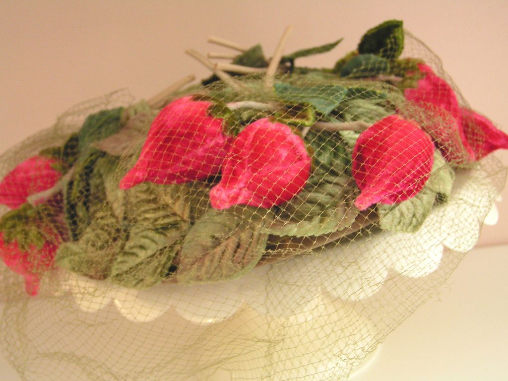 I blogged about  some of my vintage hats here: www.velvetstrawberries.typepad.com