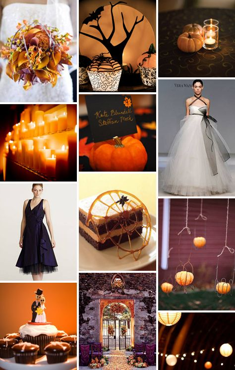 Black and orange halloween wedding ideas\