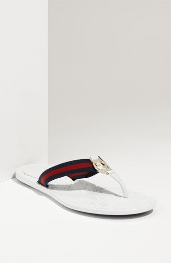 9d500038a1e2 Gucci Logo Flip Flop Sandal