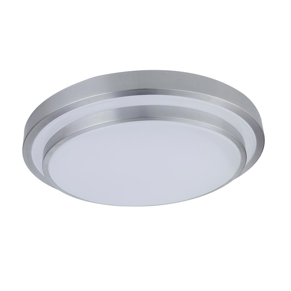 Lutec 36 Watt Silver And White Integrated Led Ceiling Flushmount