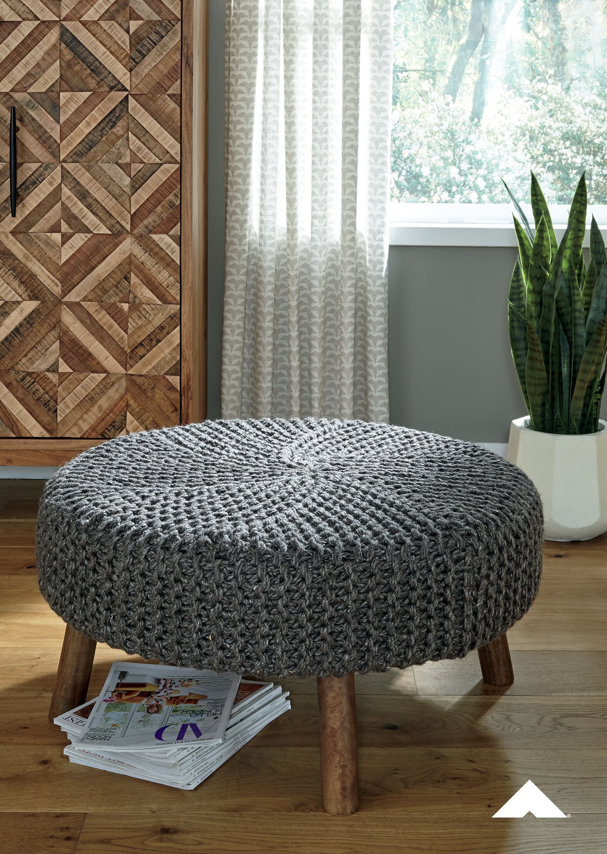 Jassmyn Charcoal Oversize Accent Ottoman By Ashley Furniture