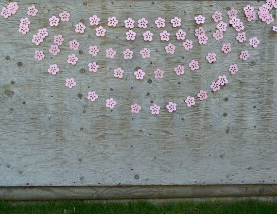 Wedding Backdrop Flower Garland  Paper Flower by TheMumbaiStreet, $8.00  - Baby Shower Ideas - #baby #Backdrop #FLOWER #GARLAND #ideas #Paper #shower #TheMumbaiStreet #Wedding #paperflowergarlands