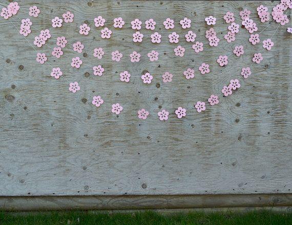 Wedding Backdrop Flower Garland  Paper Flower by TheMumbaiStreet, $8.00  - Baby Shower Ideas - #baby #Backdrop #FLOWER #GARLAND #ideas #Paper #shower #TheMumbaiStreet #Wedding #paperflowergarlands