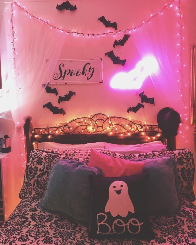 25 Easy Halloween Bedroom Decor Tips Ideas For 2020 Halloween Bedroom Halloween Bedroom Decor Halloween Room Decor Halloween decor ideas bedroom
