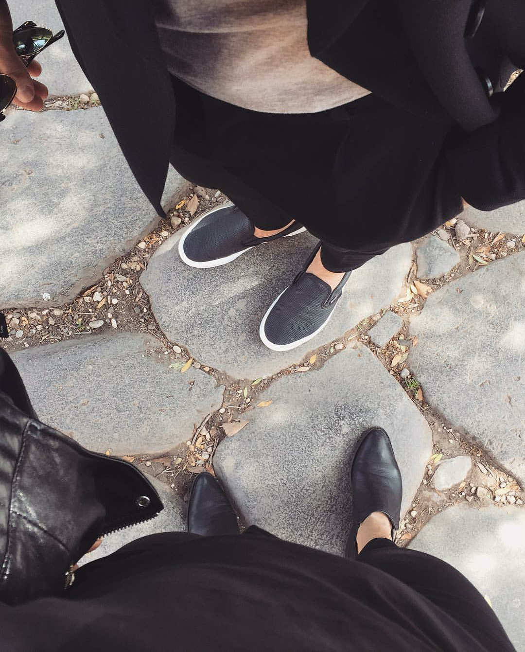 INSTAGRAM: @noracim #roma #italy #couple #black #outfit