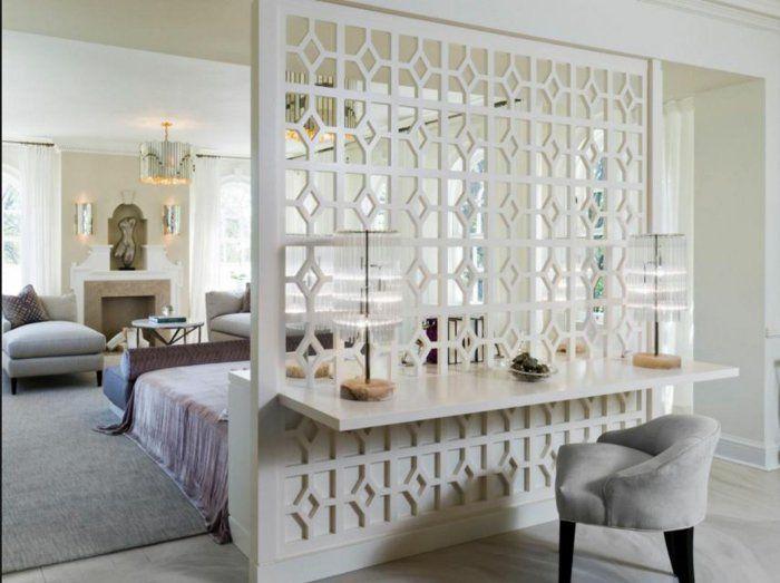 raumtrenner ideen raumteiler vorhang raumteiler regal dekorativer